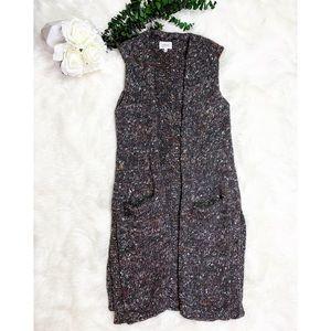 Aritzia Wilfred Vest Cardigan Wool Alpaca Silk